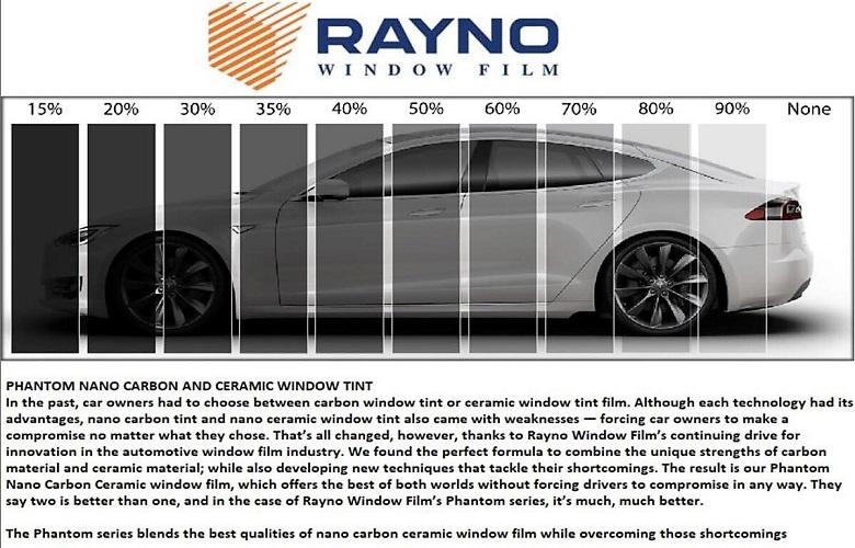 Custom Whips Rayno Nano Carbon Ceramic Window Tinting