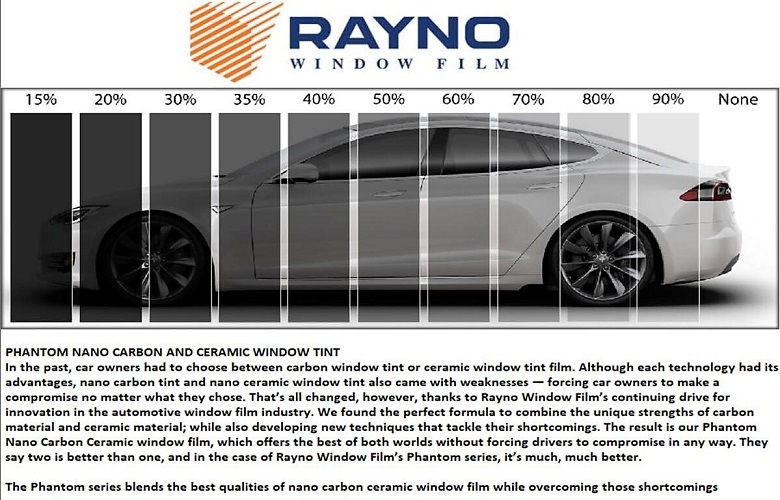 Paint Protection Film >> Custom Whips › Rayno Nano-Carbon Ceramic Window Tinting